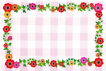 花のフレーム