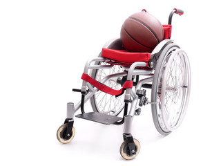 Wheelchair and basketball