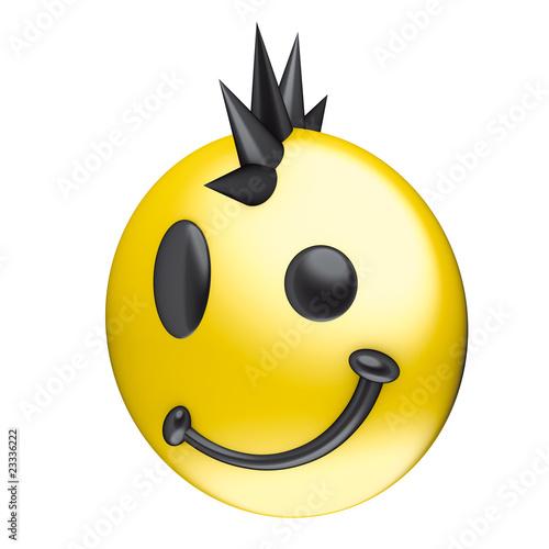 Faccina sorriso punk di imagebos, foto stock royalty free #23336222 su ...: it.fotolia.com/id/23336222