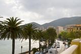 coastal boulevard Ajaccio Corsica France poster