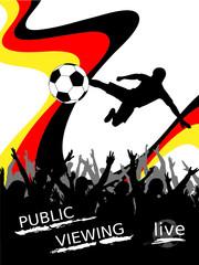 Fußball - Public Viewing - Plakat Liveübertragung