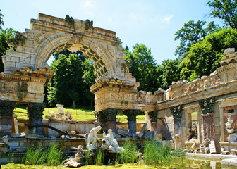 Roman Ruin in Schoenbrunn.