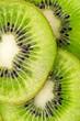close up  slices of juicy kiwi fruit