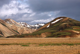 Iceland - Landmannalaugar picturesque mountains poster