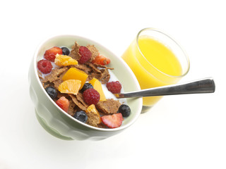 Cereal with Fresh Fruit
