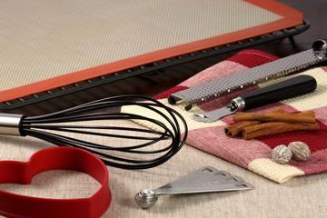 set of baking utensils