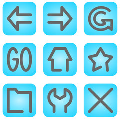 internet browser icons and symbols