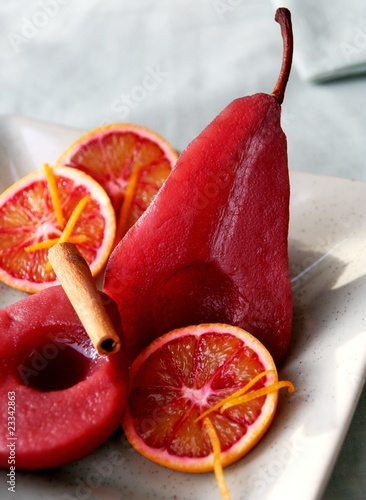 Rotweinbirnen - Pears in Red Wine