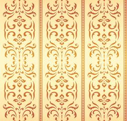 Seamless damask wallpaper pattern (Vector)