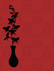 Vector Orchid in a Vase (Silhouette)