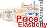Price elasticity background concept poster