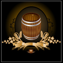 barrel kvass beer wine