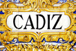 Cadiz sign