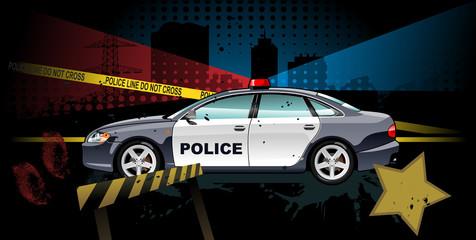 police car - vector illustration