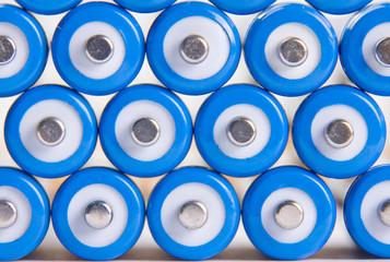 Blue batteries background