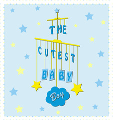 Greeting card for newborns boys