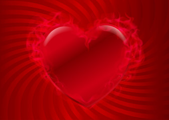 hot heart red