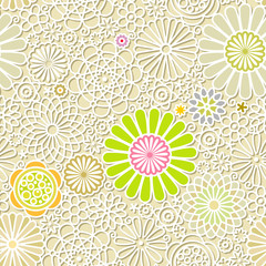 Seamless both side flower wallpaper. vector illustration.