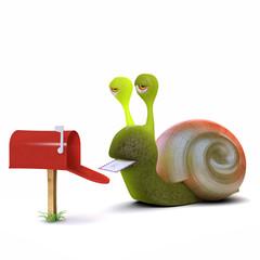 3d Snail gets a letter