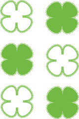 spring background with four-leaf clover
