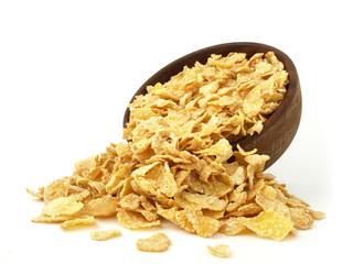 Copos de maíz derramados