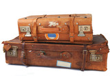 Old leather suitcases