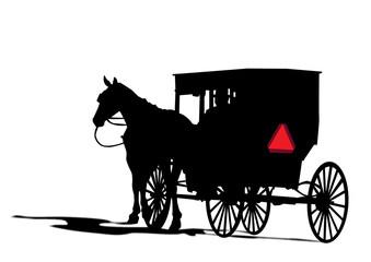 Carruaje de caballo amish