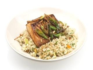 Thai Salmon with Brown Rice
