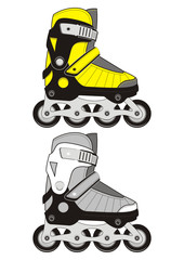 Extreme Sports Roller Skates. Two colors.
