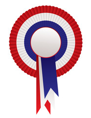 red white blue rosette awards