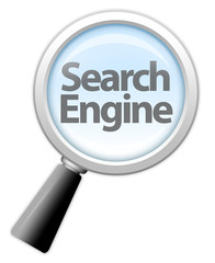 "Magnifying Glass Icon ""Search Engine"""