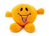 orange plush toy poster