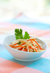 kohlrabi and carrot salad