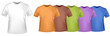 Colored polo shirts. Photo-realistic vector.