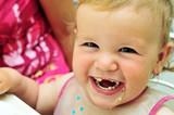 happy eating sweet baby girl