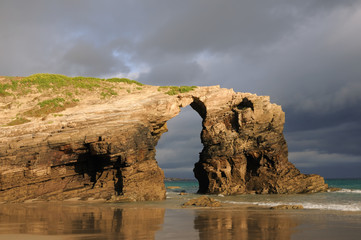 Las Catedrales beach. Ribadeo, Spain