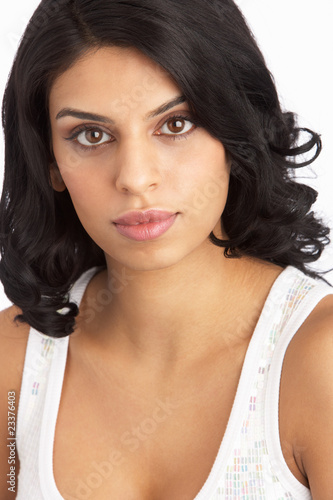 Portrait Of Attractive Young Woman In Studio