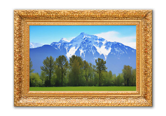 Rocky mountains painting.