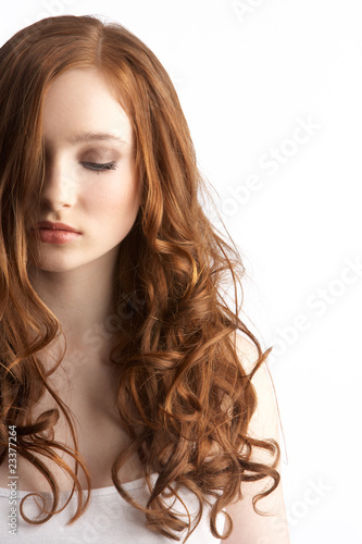 Portrait Of Attractive Teenage Girl In Studio
