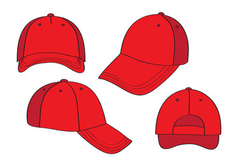 Blank Red Caps