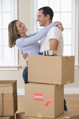 Attractive Young Couple Hugging
