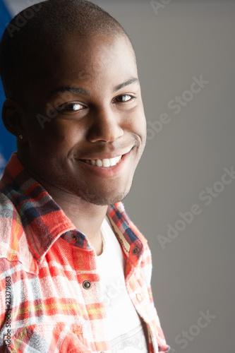 Fashionable Young Man Wearing Casual Clothes In Studio
