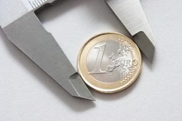 Closeup moeda Euro no peclise