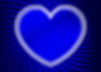 hot heart blue