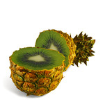 The transformation of pineapple in kiwi. poster
