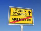 Fototapety Arbeitslos-Selbstständig-Schild