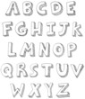 Letters vector hand written