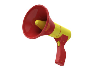Bullhorn isolated on white background