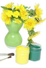 Paints and dandelions
