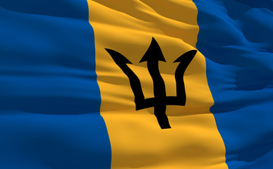 Waving flag of Barbados